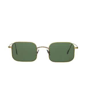 Flare Bronze Metal Bottle Green Lens Sunglasses