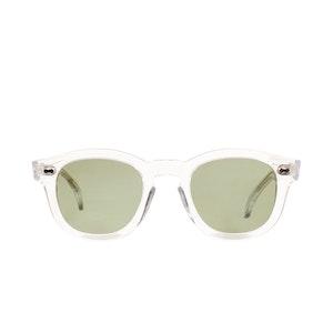 Donegal Transparent Acetate Bottle Green Lens Sunglasses
