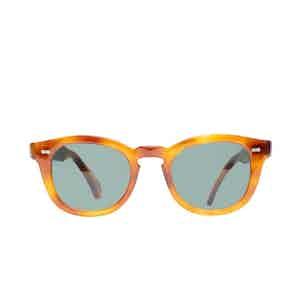 Donegal Classic Tortoiseshell Acetate Bottle Green Lens Sunglasses