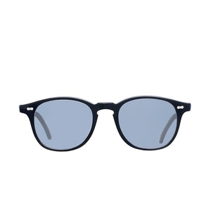 Shetland Black Acetate Gradient Grey Lens Sunglasses