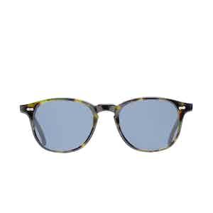 Shetland Green Tortoiseshell Acetate Gradient Grey Lens Sunglasses