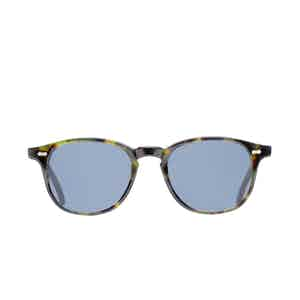 Shetland Green Tortoiseshell Acetate Gradient Grey Lens Sunglasses