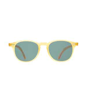 Shetland Honey Acetate Bottle Green Lens Sunglasses