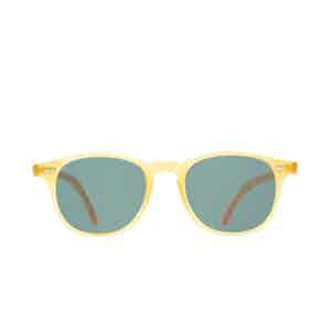 Shetland Honey Acetate Bottle Green Lens Sunglasses