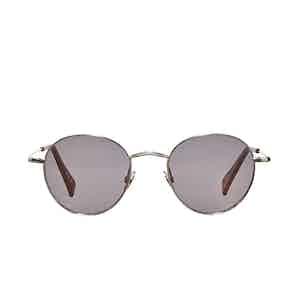 Vicuna Rhodium Gradient Grey Lens Sunglasses