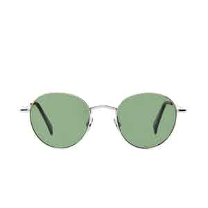 Vicuna Rhodium Bottle Green Lens Sunglasses