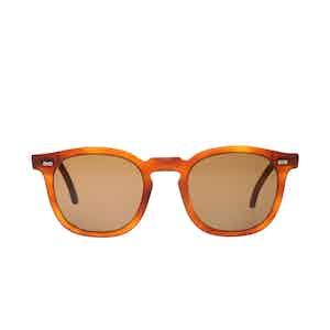 Twill Matte Classic Tortoiseshell Acetate Tobacco Lens Sunglasses