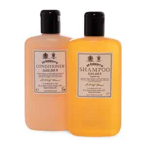 Golden Shampoo and Conditioner Set