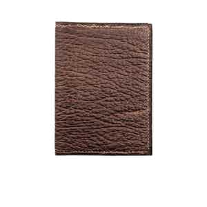 Brown Shark Skin Card Holder N°2