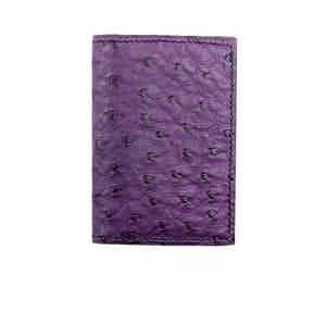 Purple Ostrich Card Holder N°4