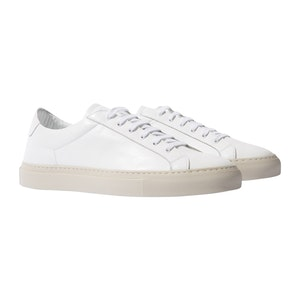 Cosmo Bianco Leather Sneakers