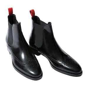 Dario Nero Leather Chelsea Boots