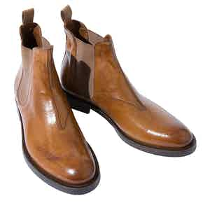 Dean Peanut Leather Chelsea Boots