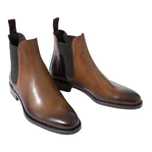 Enzo Castagno Leather Chelsea Boots