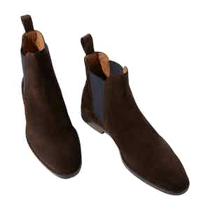 Giacomo Brown Suede Chelsea Boots