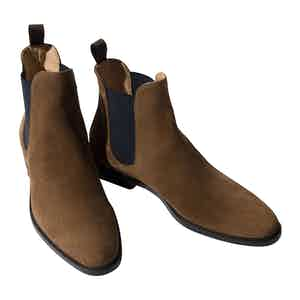 Giacomo Tobacco Suede Chelsea Boots