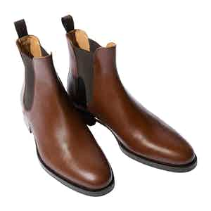 Giancarlo Castagno Leather Chelsea Boots