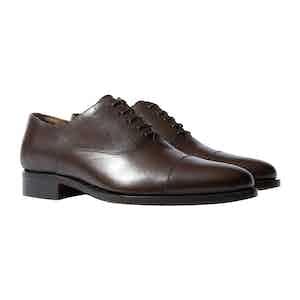 Giove Marrone Leather Oxfords