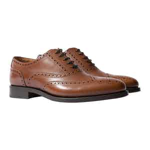 Guccio Cognac Leather Oxfords