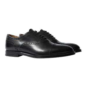 Harrison Black Leather Oxfords