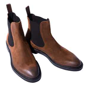 Hunter Cigar Suede Chelsea Boots