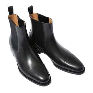 Michaelangelo Nero Leather Chelsea Boots