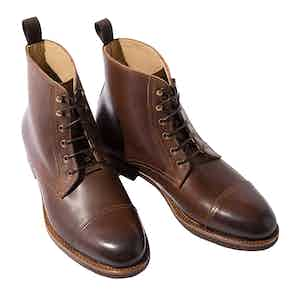 Paolo Caramello Leather Laced Boots