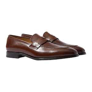 Raimondo Cognac Leather Penny Loafers