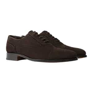 Roberto Brown Suede Oxfords
