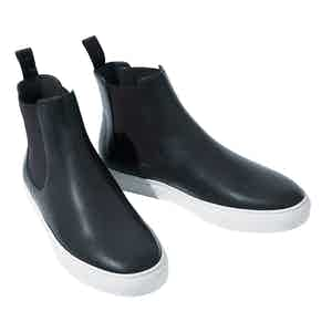 Tommaso Blue Leather Chelsea Boots