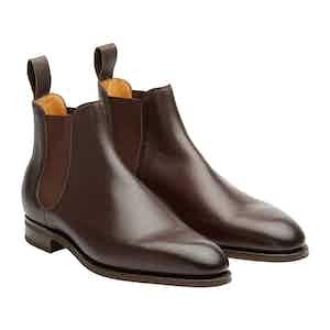 Dark Brown Leather Camden Chelsea Boots