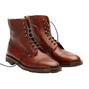 Rosewood Leather Galway Laced Boots