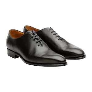 Black Calfskin Leather Newbury Whole-Cut Shoes