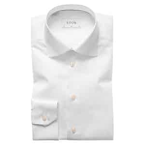 White Cotton-Twill Slim Signature Cut Away Single-Cuff Shirt