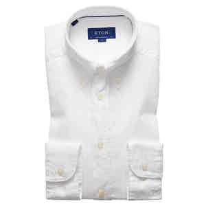 White Cotton Contemporary Oxford Single-Cuff Shirt