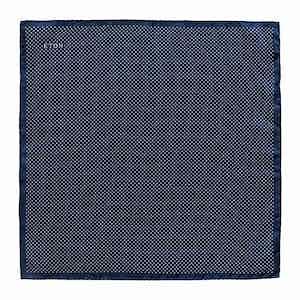 Navy Silk Fine Polka Dot Pocket Square