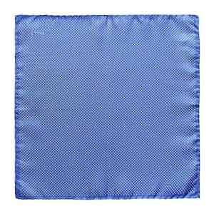 Light Blue Silk Fine Polka Dot Pocket Square