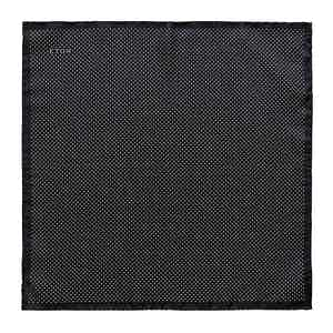 Black Silk Fine Polka Dot Pocket Square