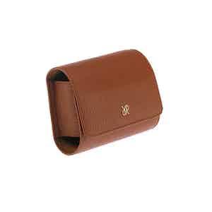 Tan Leather Single Watch Roll