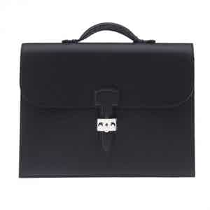 Black Full-Grained Leather Briefcase