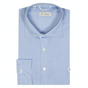 Light Blue Cotton Voile Polo Shirt