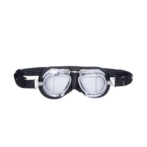 Black Leather Driving Goggles