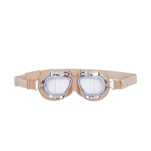 Tan Leather Driving Goggles