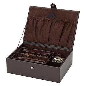 Brown Leather Blake Shoe Shine Kit