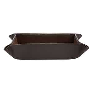 Brown Leather Blake Coin Tray