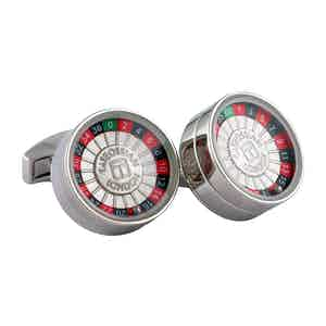 Rhodium-Plated Decision Maker Cufflinks