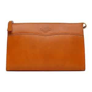 Havana Leather Large Washbag