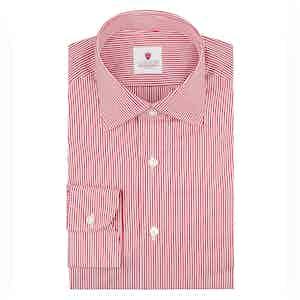 Red Cotton Micro Stripe Dandy Shirt