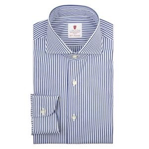 Blue and White Cotton Stripe Dandy Shirt