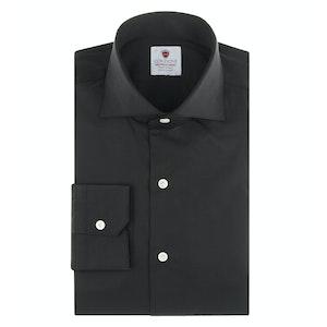 Black Cotton-Poplin Comfort Shirt